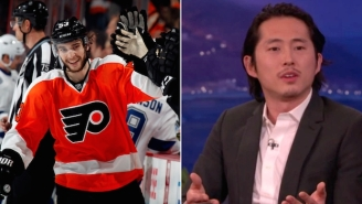 The Philadelphia Flyers Buried 'Walking Dead' Star Steven Yeun With One Simple Tweet