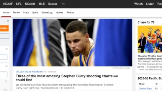 ESPN.com Actually Has An Entire Page In Its NBA Section Dedicated To Stephen Curry