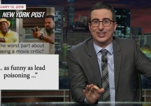 John Oliver Illustrates How Lead Poisoning In Water Is Widespread In The U.S. Beyond Flint
