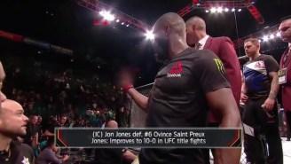 Daniel Cormier Responded After Jon Jones Flipped Him The Bird At UFC 197