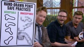Conan, Zac Efron, And Seth Rogen Play A Frat Boy Version Of 'Mario Kart' On 'Clueless Gamer'
