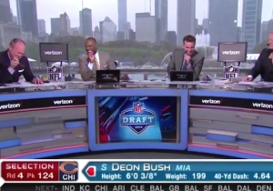 Rich Eisen And The NFL Network Crew Couldn't Stop Laughing At 'Beavers' And 'Bush' During The Draft