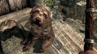 A Maddeningly Cute Dog Inspired This 'Skyrim' Player's Hilarious Tale
