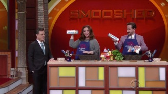 Stephen Colbert Hilariously Spoofs 'Chopped' With Melissa McCarthy And Ben Falcone
