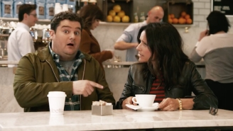 'Beep' Superfan Bobby Moynihan And Julia Louis-Dreyfus Enjoy A Coffee In This Week's 'SNL' Promos