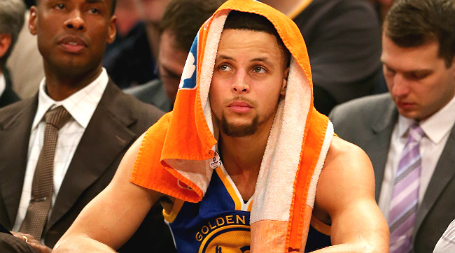steph curry bench