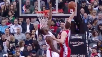 Nik Stauskas Split The Defense And Dunked All Over Bismack Biyombo
