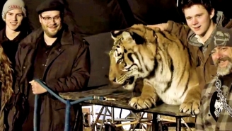 Seth Rogen Recalls The Insanity Of Shooting 'The Interview' With A Live Tiger
