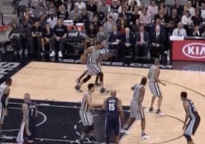 Tim Duncan Ripped The Ball From Zach Randolph Like He Was A Small Child