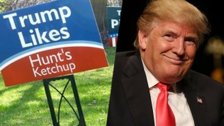 A Pittsburgh Man Made Yard Signs About Donald Trump's Bad Taste In Food