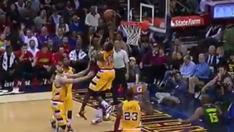 Tristan Thompson Gets Stupid Air On This Monstrous Block Of Paul Millsap