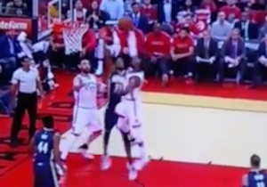 Patrick Patterson Had No Chance To Finish This Layup Over Myles Turner