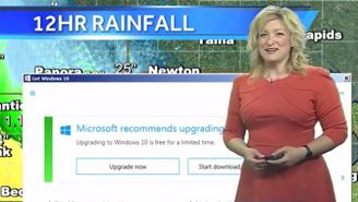 A Microsoft Windows 10 Update Hilariously Interrupted A Weather Forecast
