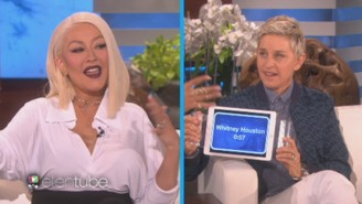 Christina Aguilera Busts Out Her Perfect Impressions Of Whitney Houston And Rihanna On 'Ellen'