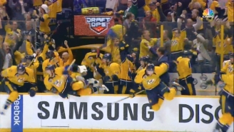 The Predators Went Nuts After Winning A Triple-OT Thriller Over The Sharks