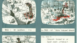 Ridley Scott's Original 'Alien' Storyboards And Notes Are Really Cool