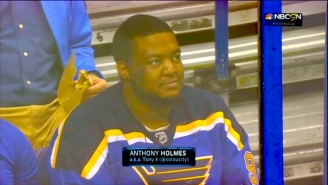 Everyone's Favorite Hockey Fan Finally Got To Go To His First Blues Game