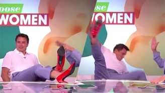 'Arrow' Star John Barrowman Proves That Heels Can Be Highly Dangerous On The Wrong Feet