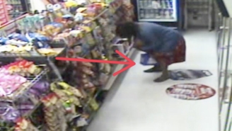 You Have To Hand It To This Innovative Shoplifter Who Stashes A 12-Pack Of Beer Right Up Her Dress