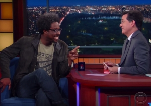 W. Kamau Bell tells Stephen Colbert that his replacement, Larry Wilmore, isn't funny