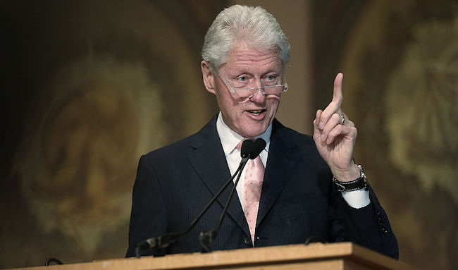 Bill Clinton Gives Lecture At Georgetown University