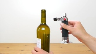 Stop Using Boring Old Corkscrews And Start Using A Blowtorch To Open Wine And Accidentally Injure Your Friends