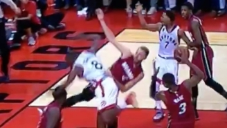 The Raptors And Heat Almost Came To Blows After Josh McRoberts Fouled Bismack Biyombo