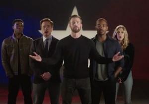 Sebastian Stan is the best part of this musical 'Captain America: Civil War' promo