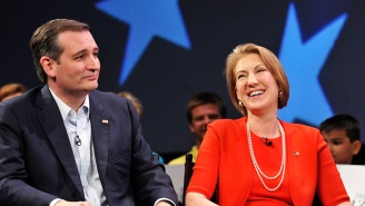 Carly Fiorina Falls Offstage And Ted Cruz Doesn't Seem To Notice