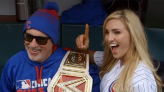 Watch Ric Flair And Charlotte Throw Out The First Pitch At A Chicago Cubs Game