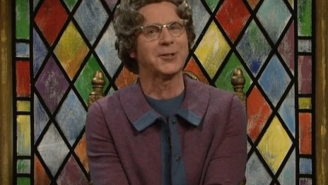 Dana Carvey Returned To 'SNL' As The Church Lady To Interview Donald Trump