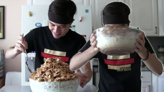 Watch This Pro Eater Down The Biggest Bowl Of Cinnamon Toast Crunch You've Ever Seen