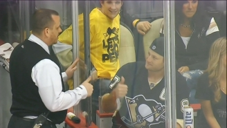 Pirates Pitcher Gerrit Cole Heckled Hockey Players So Hard Security Told Him To Calm Down