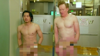 Colin Farrell Is Upset That Conan Showed Off His 'Gear' At The Korean Spa Without Him