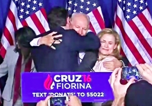 People Can't Stop Watching Ted Cruz Elbowing His Wife In The Face