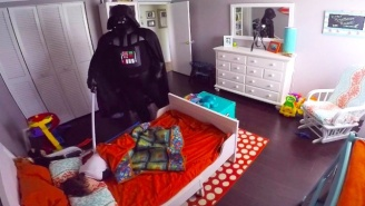 A Dad Tries To Scare His Sleeping Son As Darth Vader And Fails Miserably