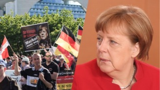 A Pig's Head Was Discovered Outside The Office Of German Chancellor Angela Merkel