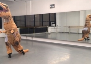 The Dancing T-Rex Roars Again With Some Excellently Choreographed Silliness In This New Video