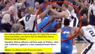 The Refs Admit They Missed Dion Waiters' Foul On Manu Ginobili At The End Of Game 2