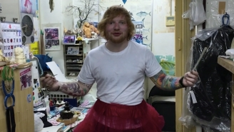 Thanks To Your Generosity, Ed Sheeran Wore A Tutu And Ate Some Snails