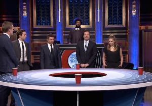 Jimmy Fallon Challenged The Avengers To A Game Of Musical Beers And Things Got Gross At The End