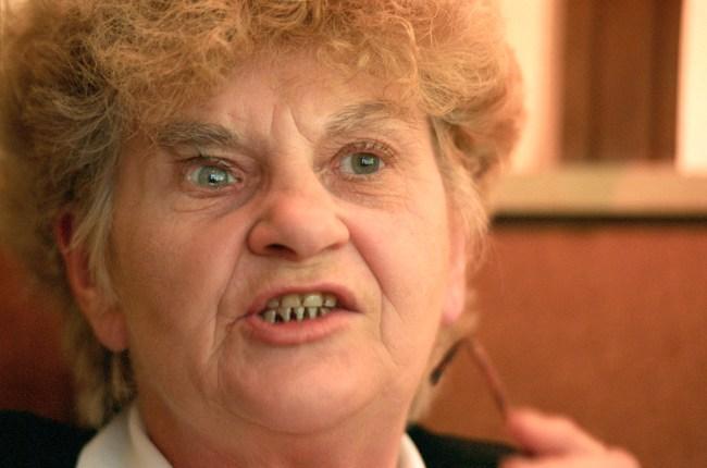 Crime matriarch Kath Pettingill, 2 September 1996. Neg No 960902-15. THE AGE Pi