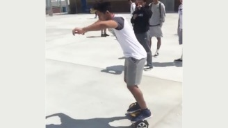 Things Go Terribly Wrong When This Guy Attempts A Hoverboard Flip