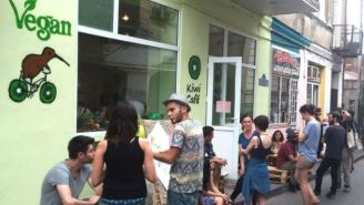 A Group Of Extremists Sporting Sausage Necklaces Attacked A Vegan Cafe