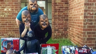 Kohl's Hooked Up The 'Happiest Chewbacca' Family With A Mountain Of 'Star Wars' Gear