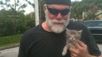 The Story Of Macho Man Rescuing A Special-Needs Kitten Will Make You Love Him Even More