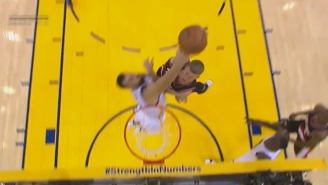 Andrew Bogut Absolutely Owned Mason Plumlee With This Rejection At The Rim