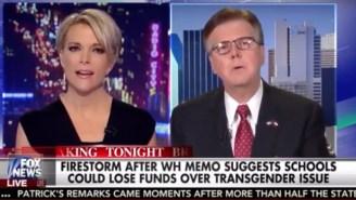 Megyn Kelly Hits Hard Against Texas' Lt. Governor Over Trans Bathroom Laws