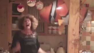 An Unexpected Fish Balloon Scares The Living Daylights Out Of A Horrified Mom