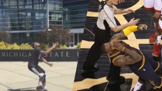The NBA Impersonator Skewered LeBron James For His Alleged Flop After Tristan Thompson's Elbow